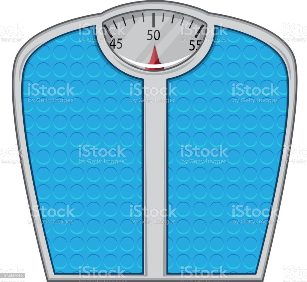 Weight scales isolated on white. vector art illustration