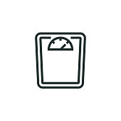 istock Weight Scales Line Icon 1305141280