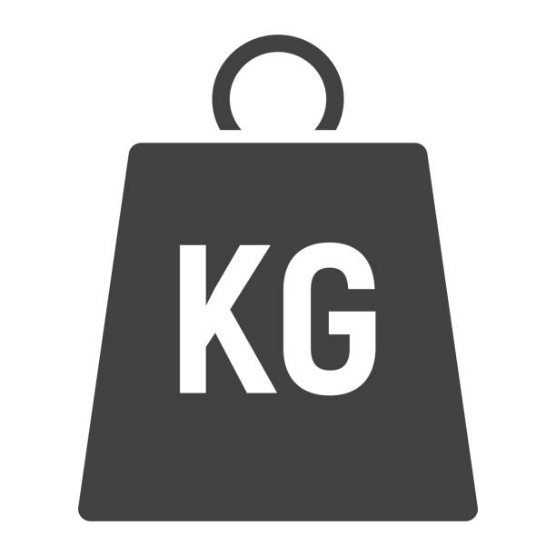 Weight symbol glyph icon, logistic and delivery, kilogram sign vector graphics, a solid pattern on a white background, eps 10. Weight symbol glyph icon, logistic and delivery, kilogram sign vector graphics, a solid pattern on a white background, eps 10. weight stock illustrations