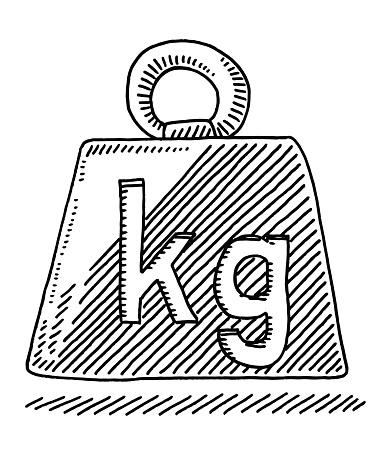 Weight Symbol Kilogram Drawing