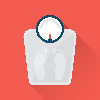 Weighted Scales Flat Icon