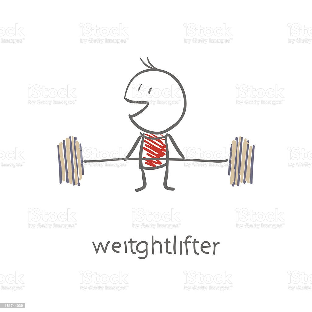 Weightlifter royalty-free weightlifter stock vector art & more images of adult