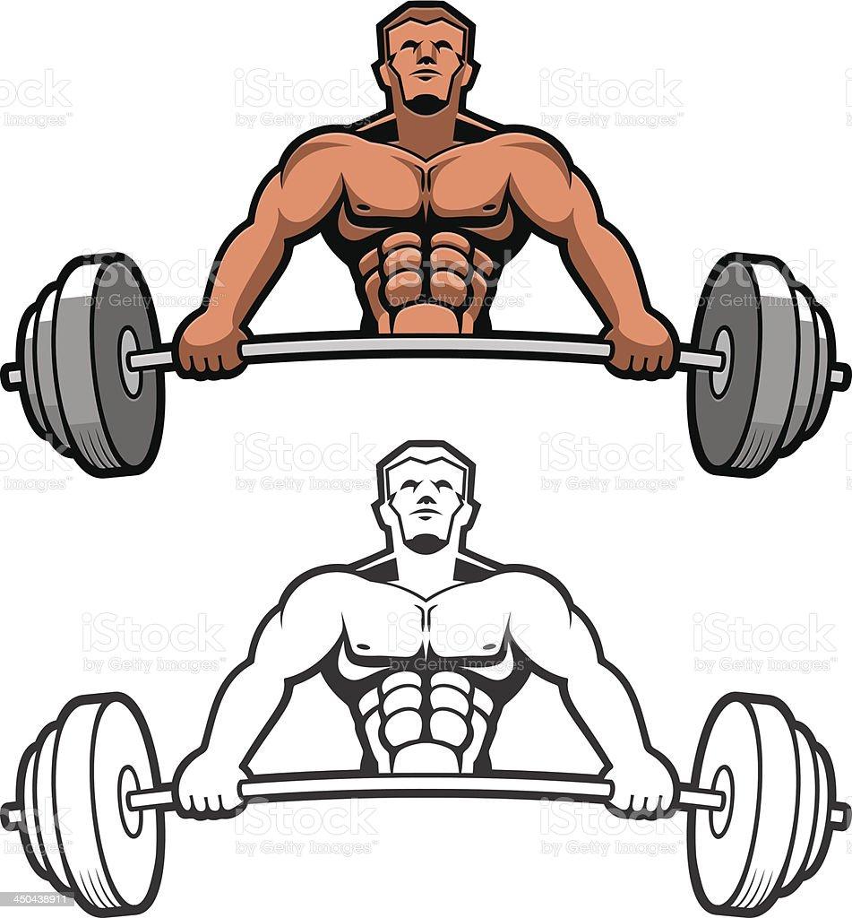 Weightlifter vector art illustration