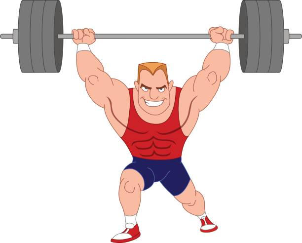 weightlifter  - class stock illustrations