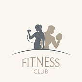 Icon weightlifting and fitness club in vintage style