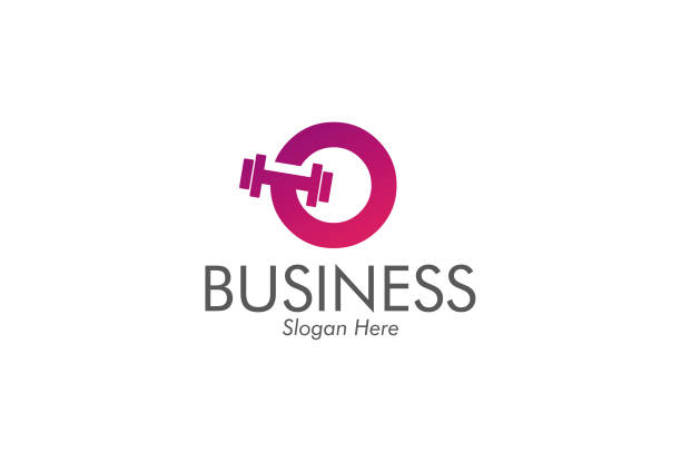 weightlifting icon for business and corporate vector art illustration