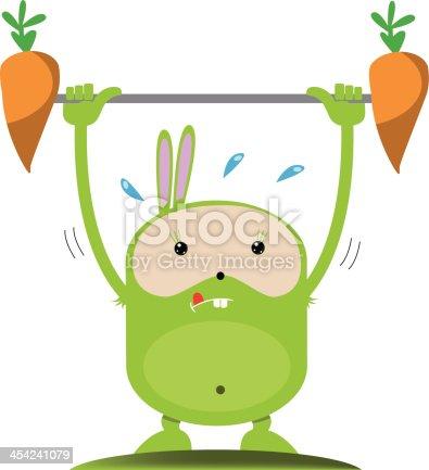 istock Weightlifting rabbit 454241079
