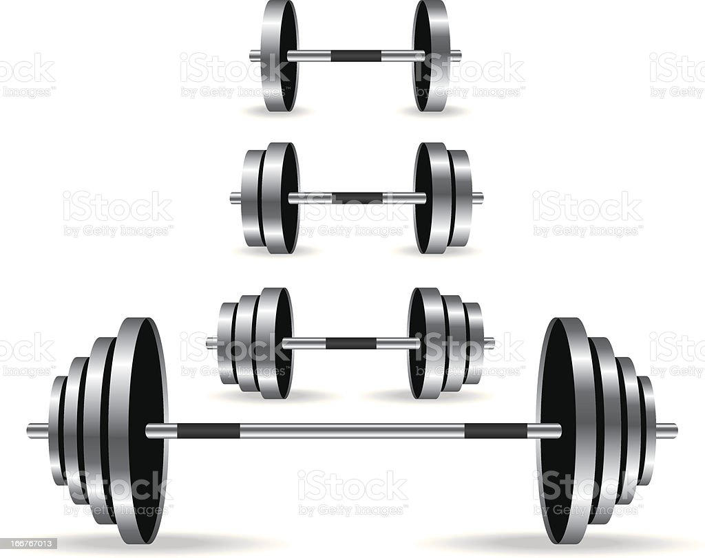 Weights collection illustration royalty-free stock vector art