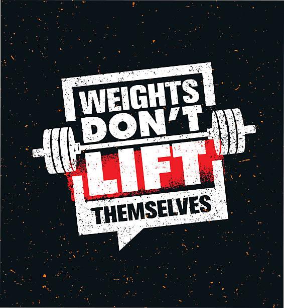 stockillustraties, clipart, cartoons en iconen met weights don't lift themselves - gym
