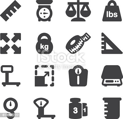 Weights Scales Unit Silhouette icons