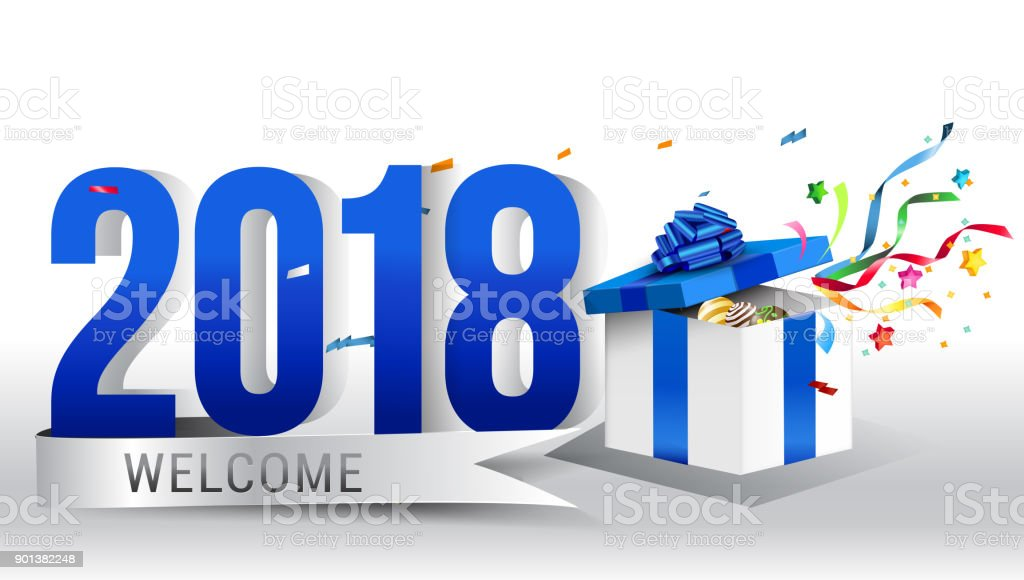 welcome 2018 vector happy new year 2018 design template royalty free welcome 2018 vector