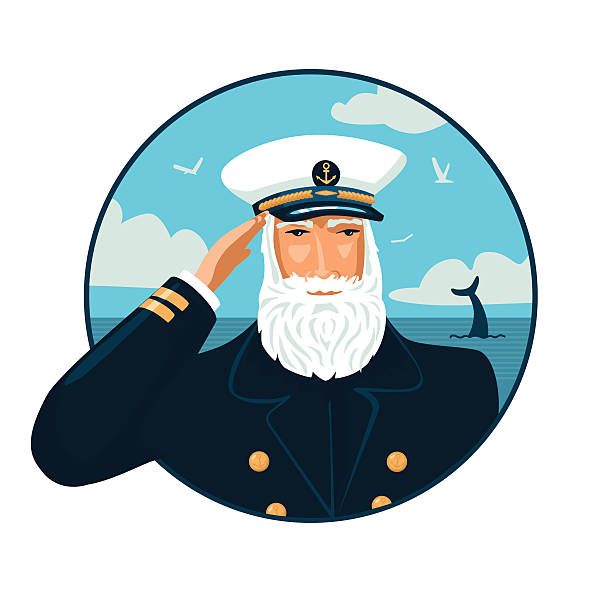 welcome aboard - old man hats pictures stock illustrations, clip art, cartoons, & icons