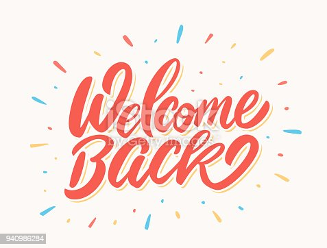 istock Welcome back banner. 940986284