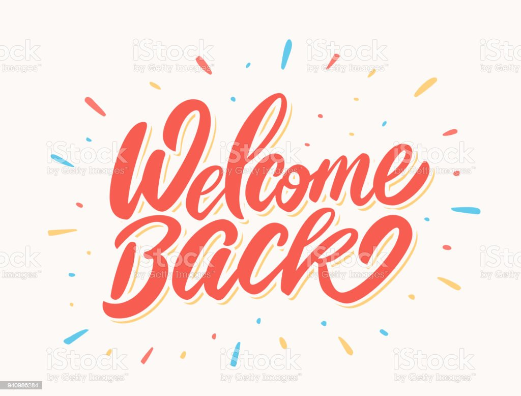 Welcome back banner. vector art illustration