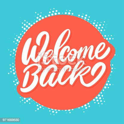 istock Welcome back banner. 971669530