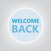 welcome back concept- vector illustration