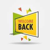 welcome back sticker we are open again after coronavirus quarantine over advertising campaign concept poster label flyer vector illustration