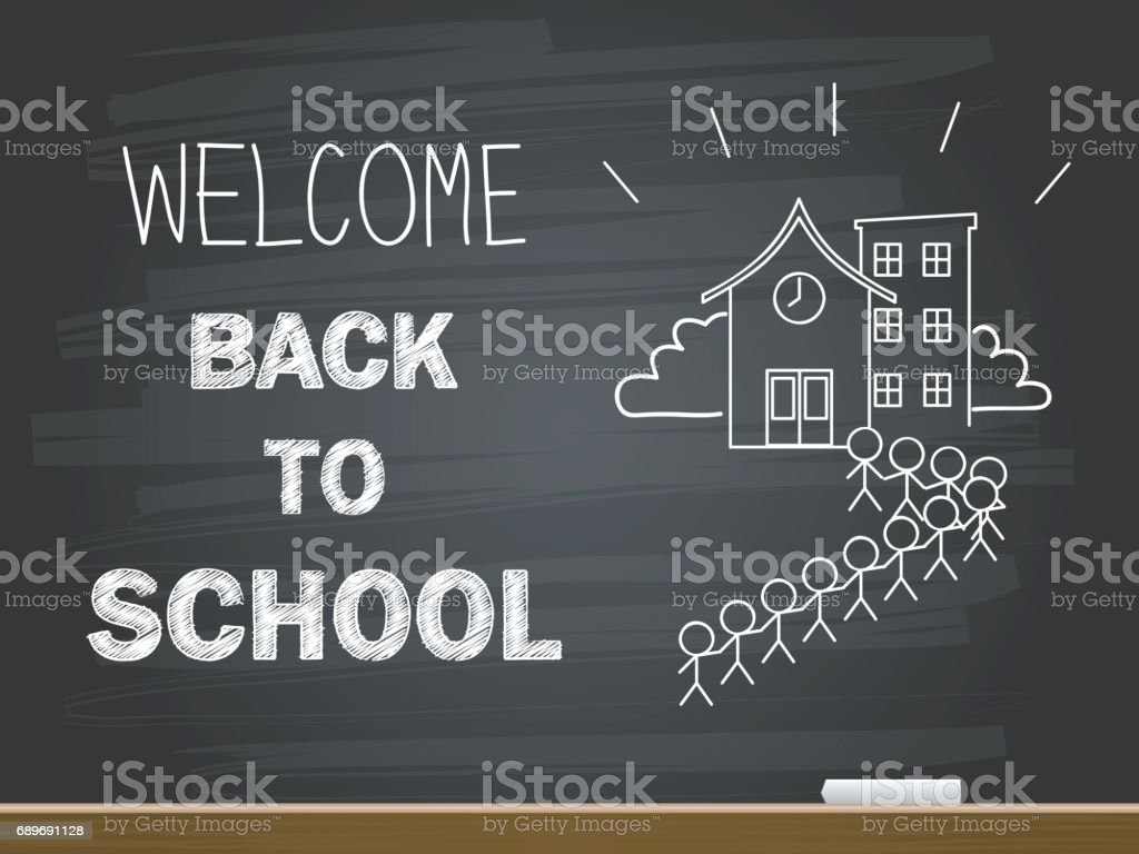 Welcome back to school banner. Vector illustration. vector art illustration