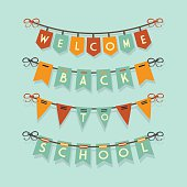 Welcome Back To School buntings decoration set