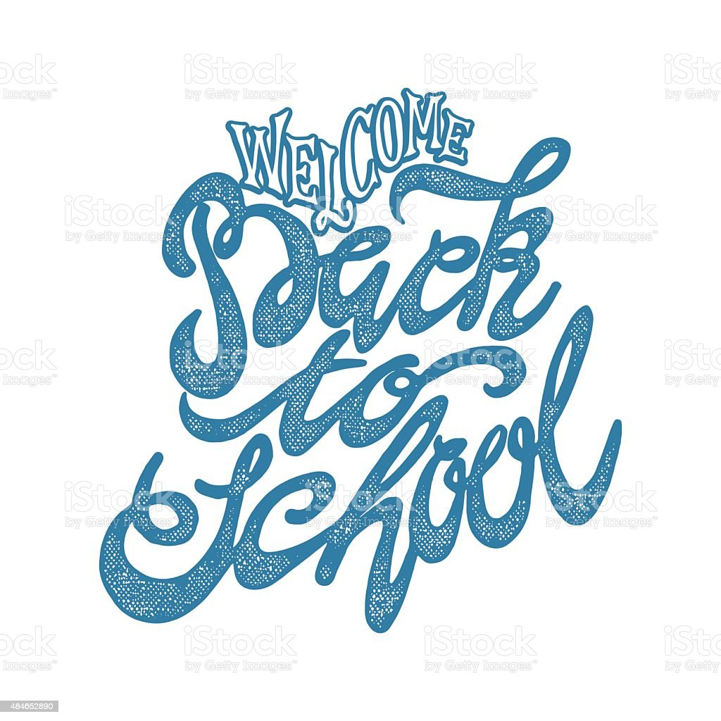 Welcome back to school hand lettering sketch background stock vector welcome back to school hand lettering sketch background royalty free welcome back to school altavistaventures Image collections