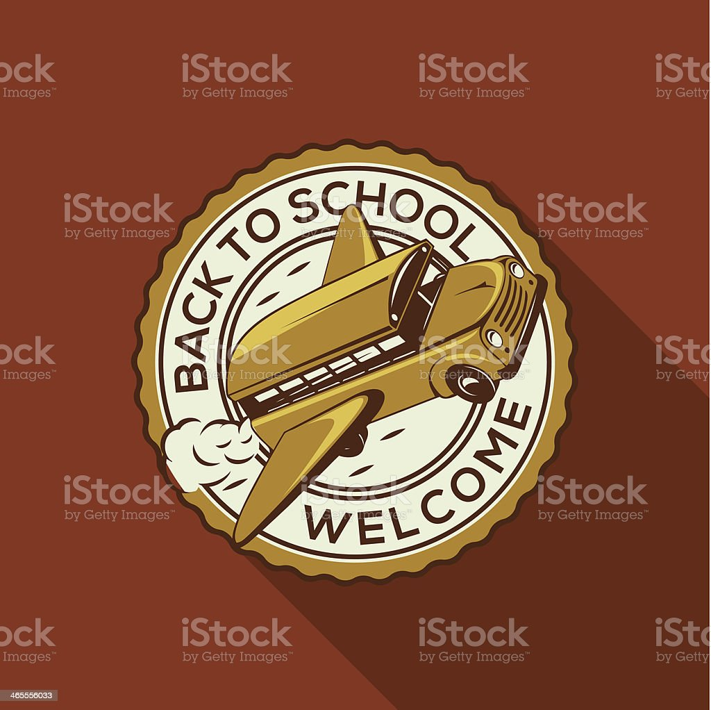 Welcome Back to school label with schoolbus royalty-free welcome back to school label with schoolbus stock vector art & more images of aspirations