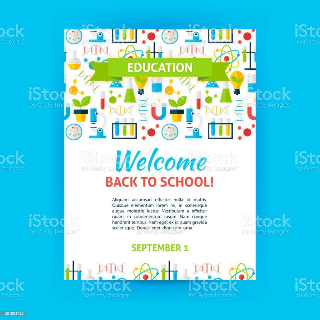 Welcome Back To School Poster Template Vecteurs Libres De Droits