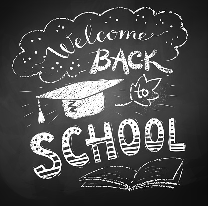 Welcome Back To School Poster Stock Illustration - Download Image Now