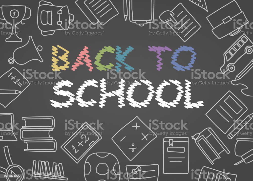 Welcome Back To School Poster With Doodles Good For Textile
