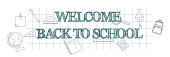 istock Welcome back to school text poster on grid paper 1261564272