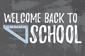 Welcome Back to School Typographic - Vintage Style.