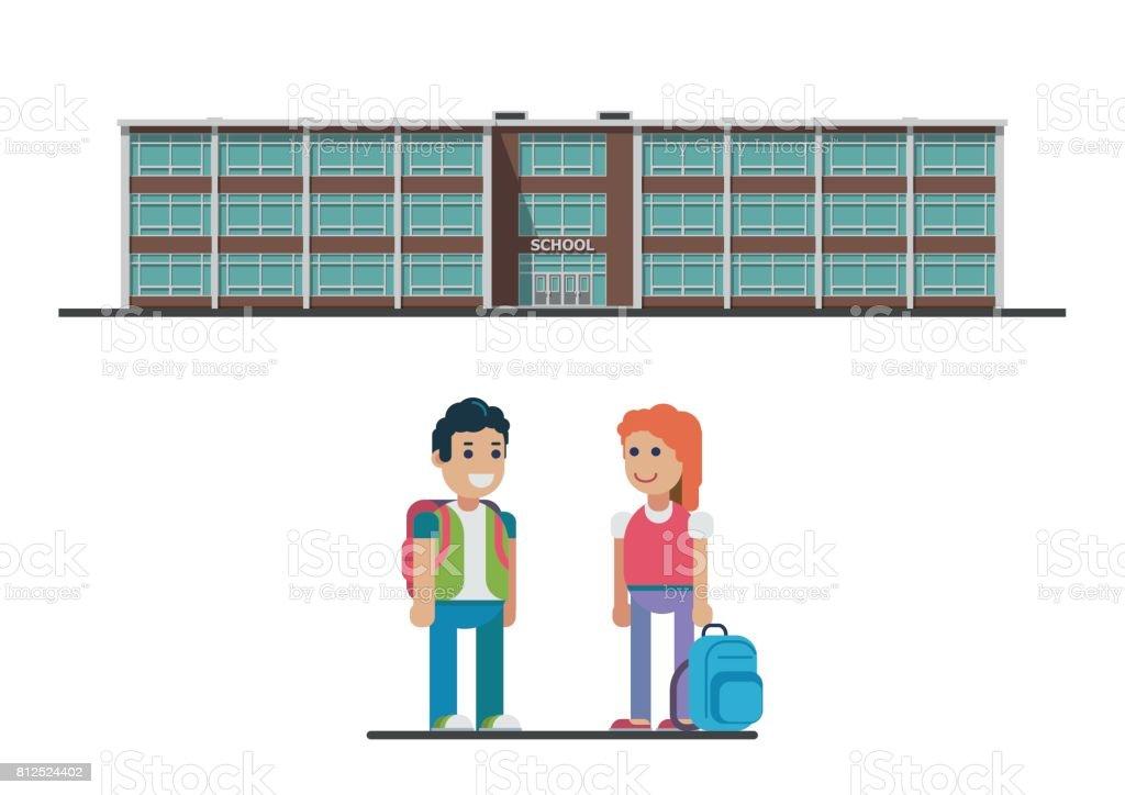 Welcome back to school. vector flat illustration векторная иллюстрация