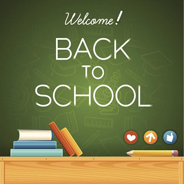 bildbanksillustrationer, clip art samt tecknat material och ikoner med welcome back to school! - digital device classroom