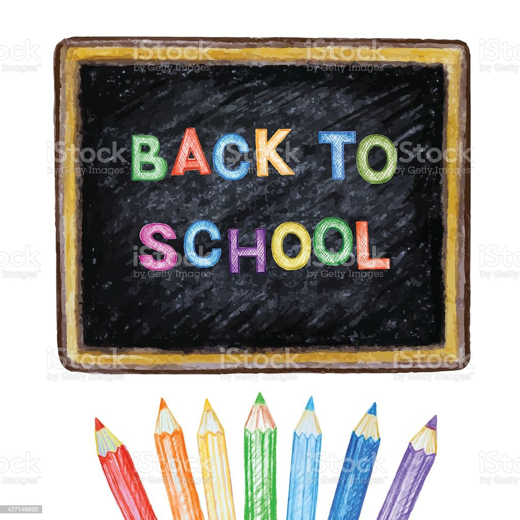 Welcome back to school. vector art illustration