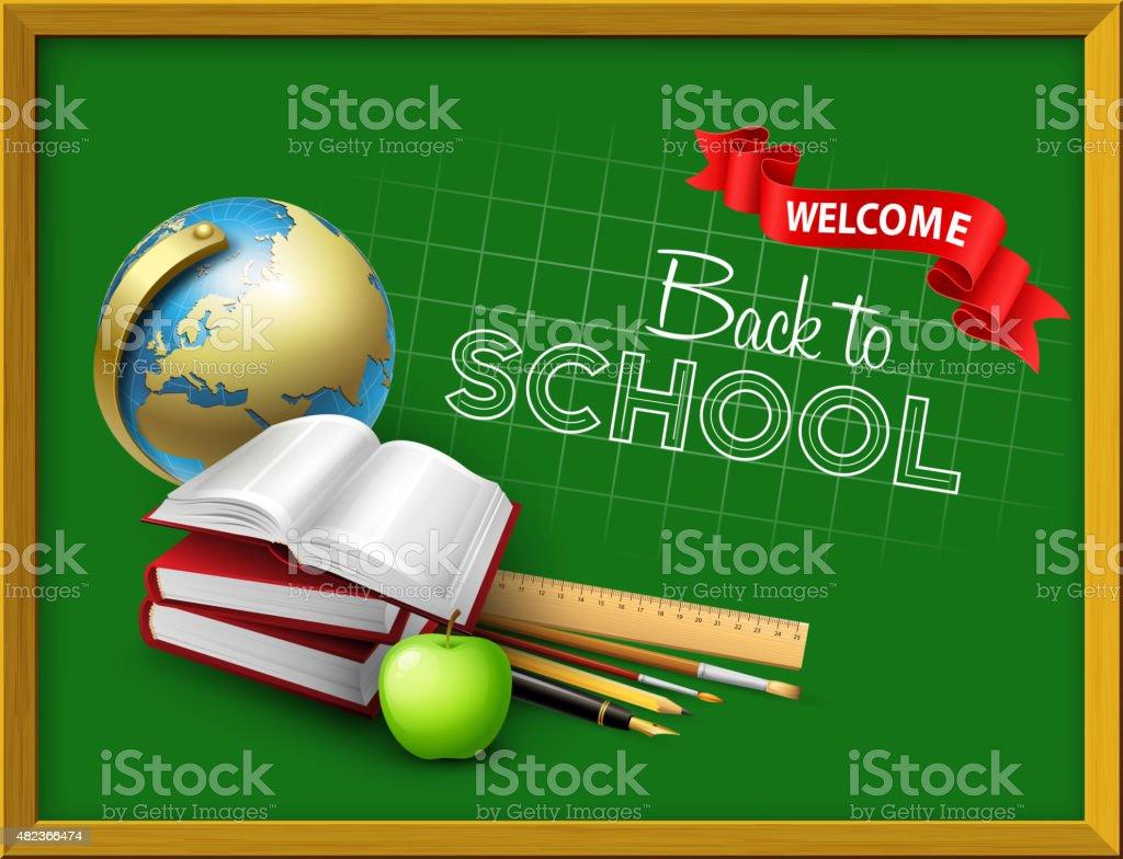 Welcome back to school. Vector illustration vector art illustration