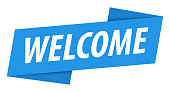 istock Welcome - Banner, Speech Bubble, Label, Ribbon Template. Vector Stock Illustration 1292561966