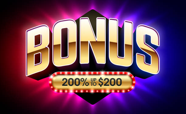 illustrazioni stock, clip art, cartoni animati e icone di tendenza di welcome bonus, gambling games casino banner - bonus
