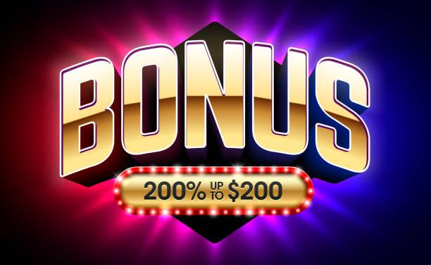 Welcome Bonus, gambling games casino banner vector art illustration