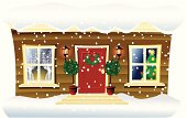 Christmas style home. Large JPG included.
