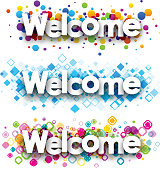 Welcome color banners.