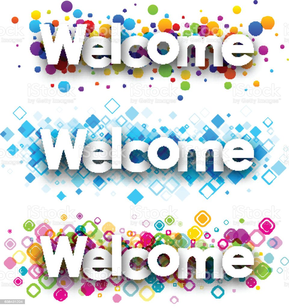 Welcome color banners. – Vektorgrafik
