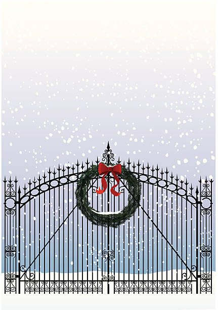 welcome home for christmas! - heather mcgrath stock illustrations