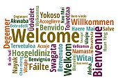 istock Welcome in different languages wordcloud on white background 935341880