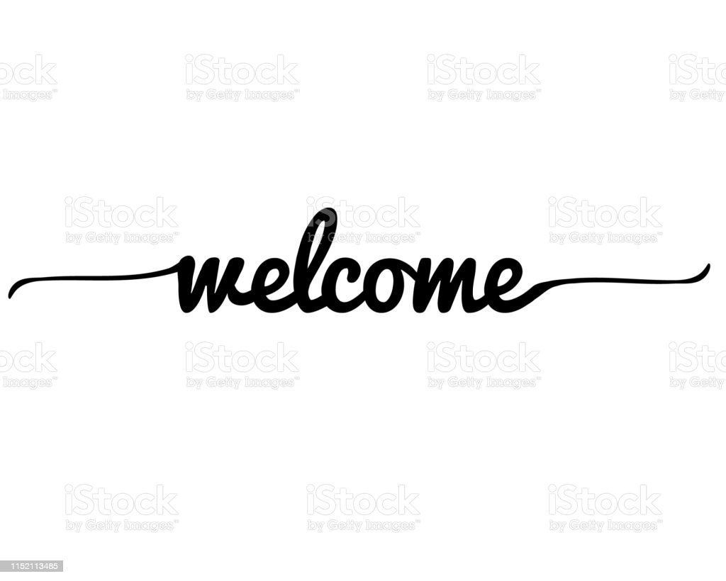 Welcome Letter on white background. Welcome lettering text. Welcome...