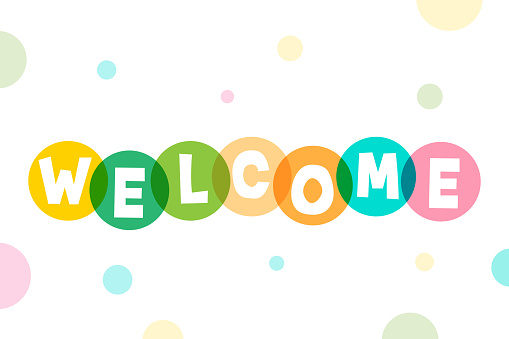Welcome lettering stock illustration