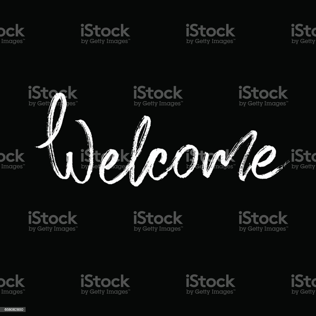 Welcome. Modern brush calligraphy. royalty-free welcome modern brush calligraphy stock vector art & more images of abstract