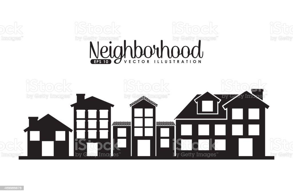 welcome neighborhood vector art illustration