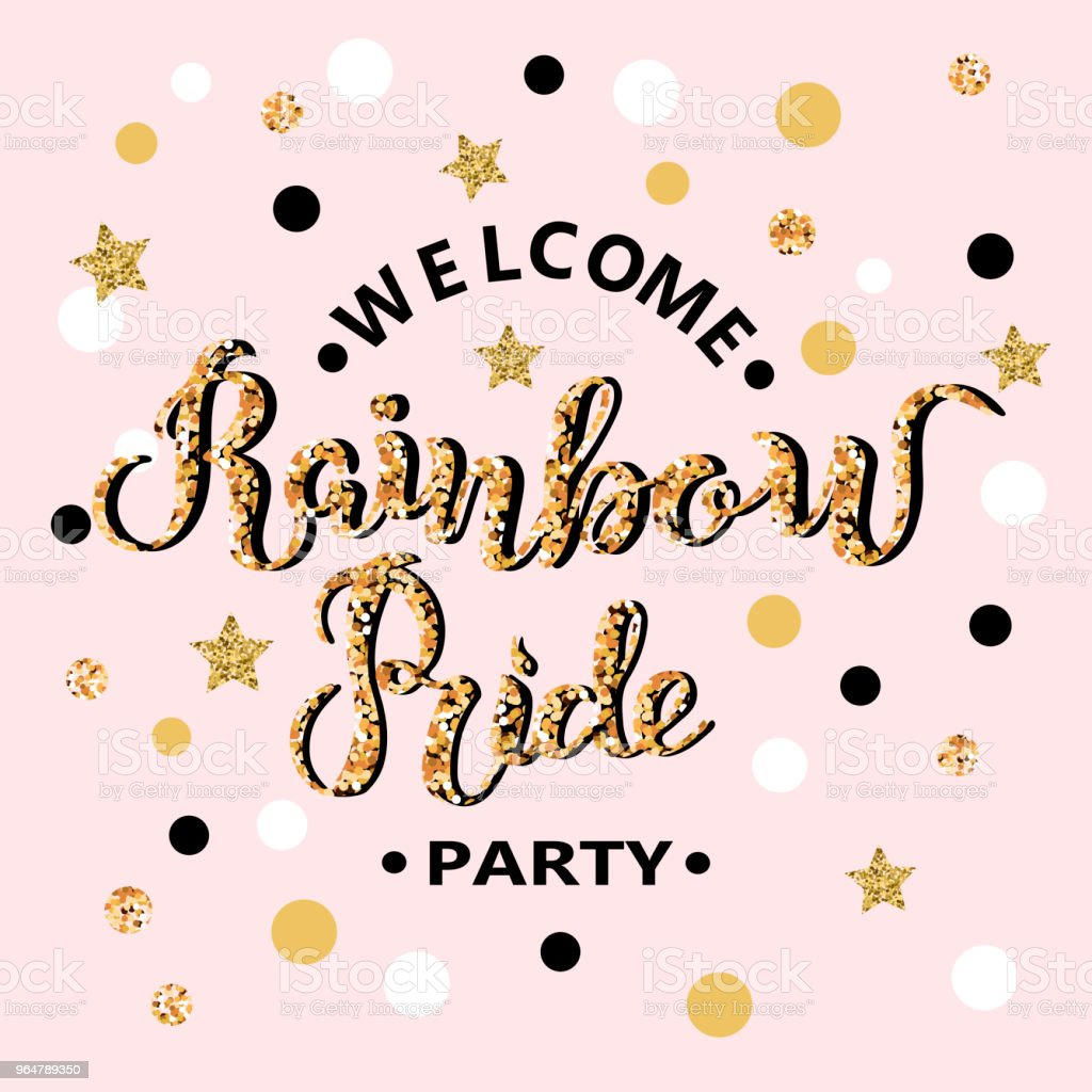 Welcome Rainbow Pride Party text royalty-free welcome rainbow pride party text stock vector art & more images of australia
