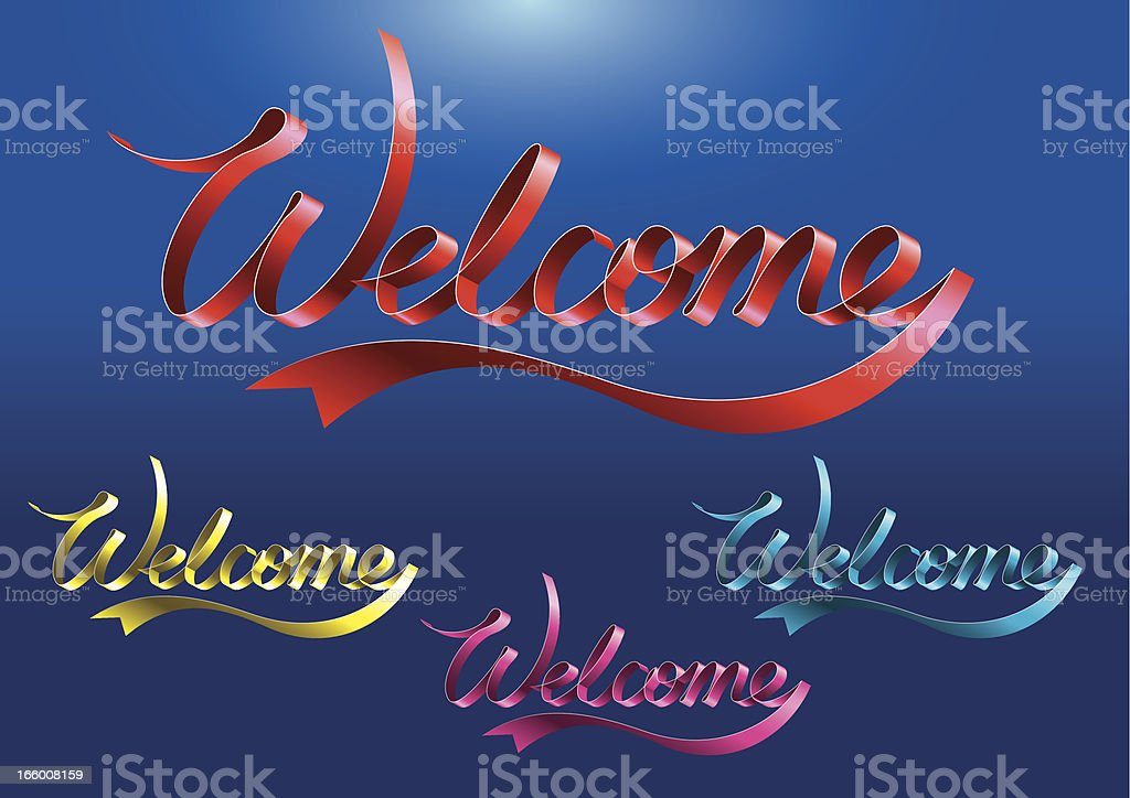 Welcome Ribbon royalty-free stock vector art