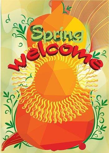Willkommen Frühling Und Musik Stock Vektor Art und mehr Bilder von Blume