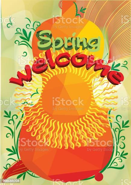 Välkomna Våren Och Musik-vektorgrafik och fler bilder på Affisch
